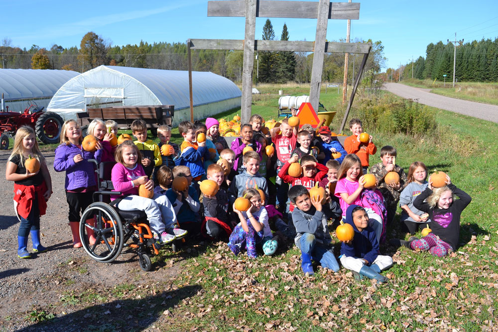 Rib Lake School second graders on a field trip to We Grow this week.